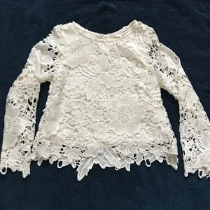 H&M Shirts & Tops - H&M Lace Long Sleeve Girl Blouse. Size 5-6Y
